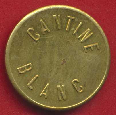 1 FRANC CANTINE BLANC