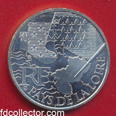 10 EURO PAYS DE LOIRE 2010 VS