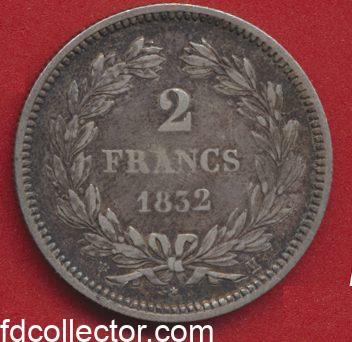 2 FRANCS 1832 H LOUIS-PHILIPPE 1°