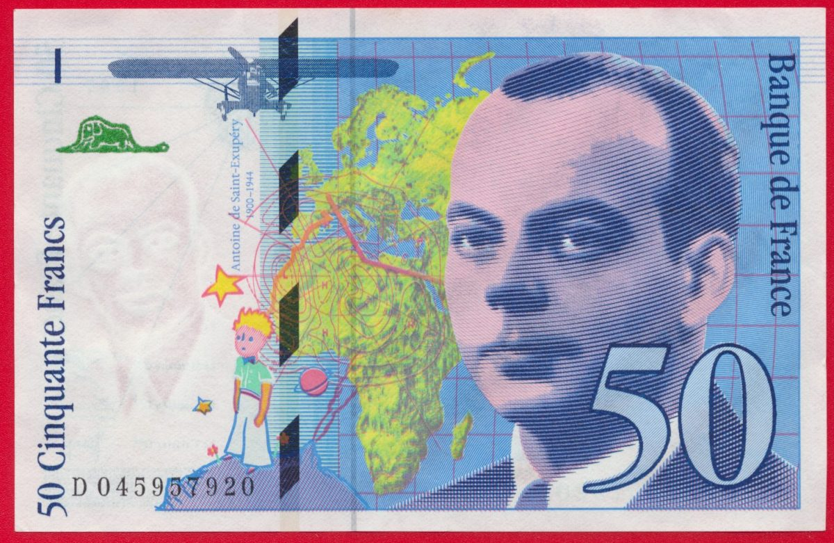 50 FRANCS ST EXUPERY NEUF 1997 57920 VS