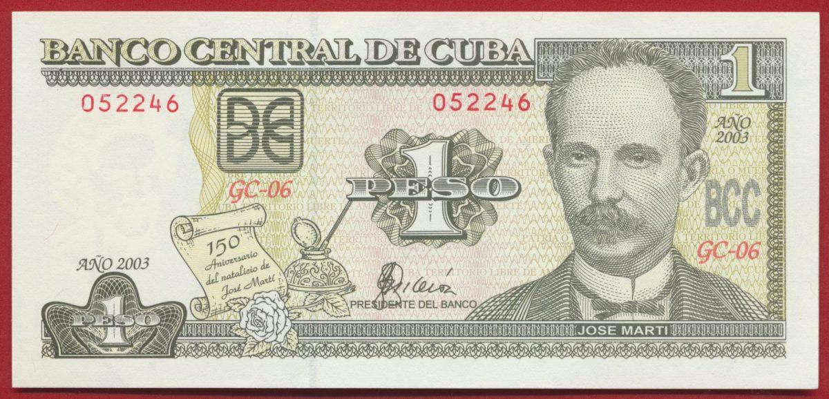 BIL ETR CUBA PESO 2003