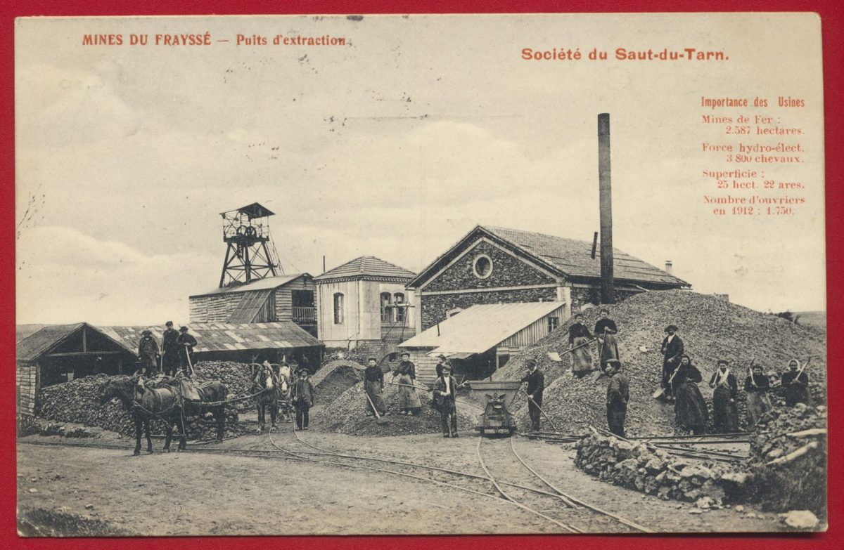 CPA MINES DU FRAYSSÉ PUITS D EXTRACTION