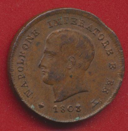 talie - Napoleon 1 r - 3 centesimi regno d italia - 1808 avers