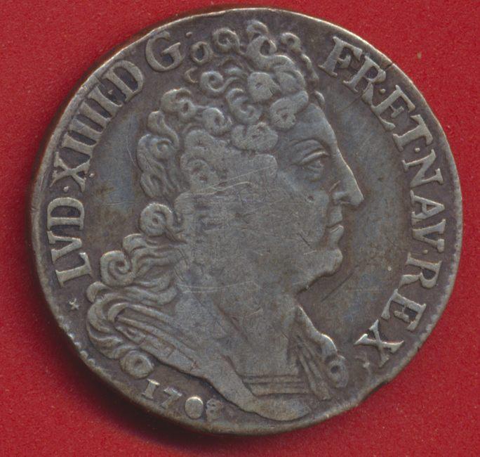 LOUIS XIV - 20 SOLS AUX INSIGNES 1708 W LILLE