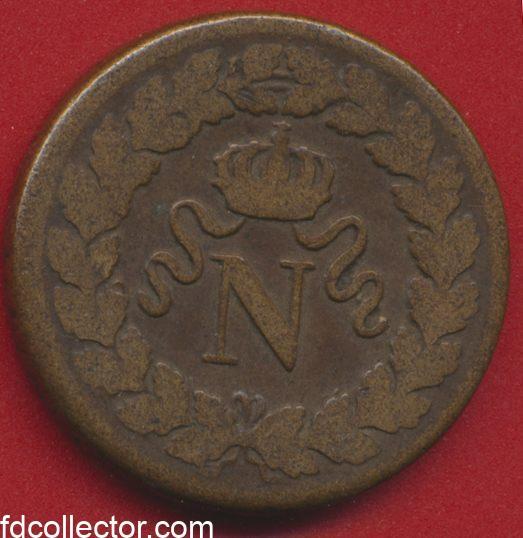 Un decime Napoleon 1 er blocus siege de strasbourg 1814 bb