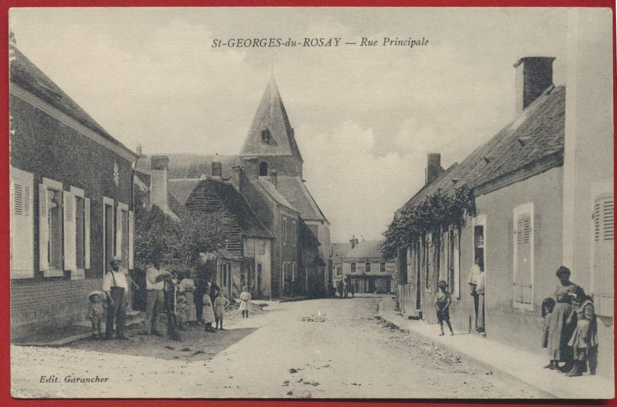 CPA 72 - sarthe - st georges du rosay rue principale