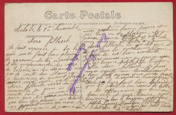 CPA Teloché (Sarthe) entrée par route du mans vs