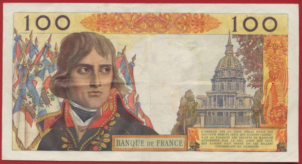 100 Francs Bonaparte 10-10-1963 vs