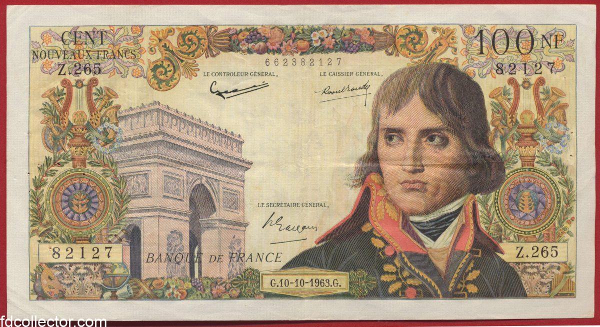 100 Francs Bonaparte 10-10-1963