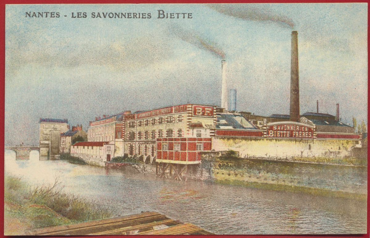 CPA Nantes les savonneries biette