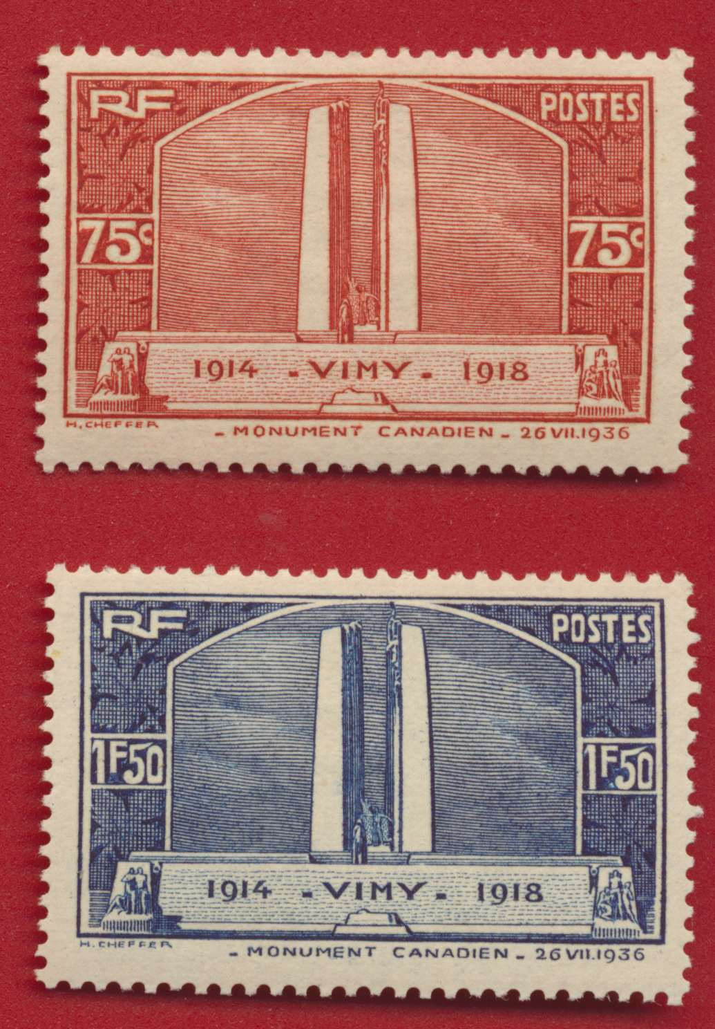 LOT VIMY Y&T 316-317