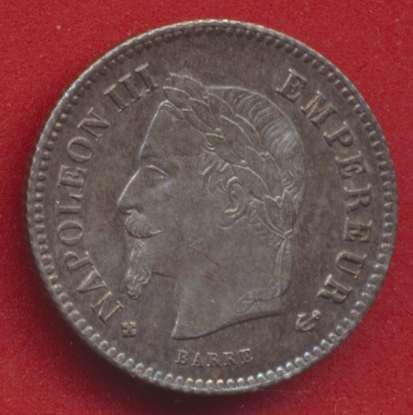 Napoleon III 20 centimes 1868 bb strasbourg