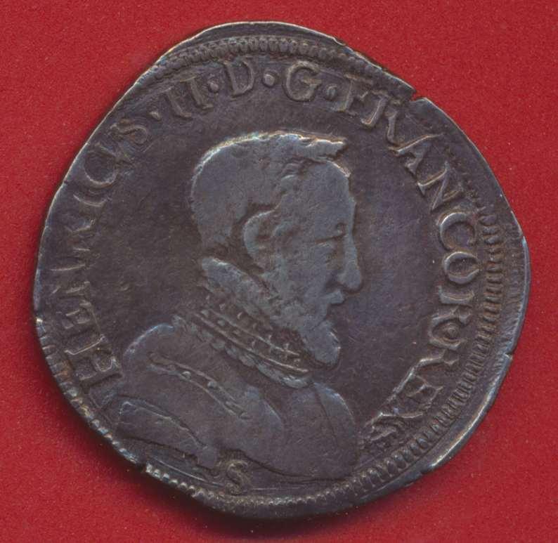 Teston henri II 1556 L bayonne
