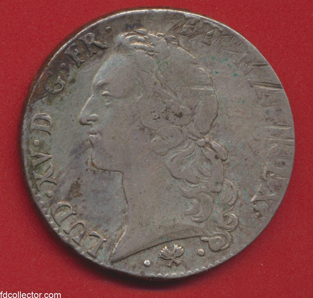 Ecu Louis XV 1769 L bayonne ecu au bandeau