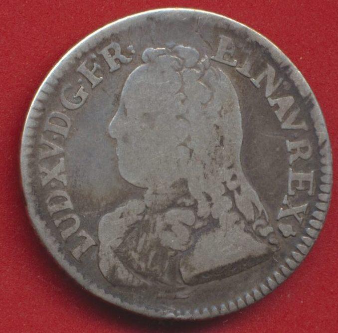 Louis XV 1-5 ecu aux branches d oliviers 1726 S reims