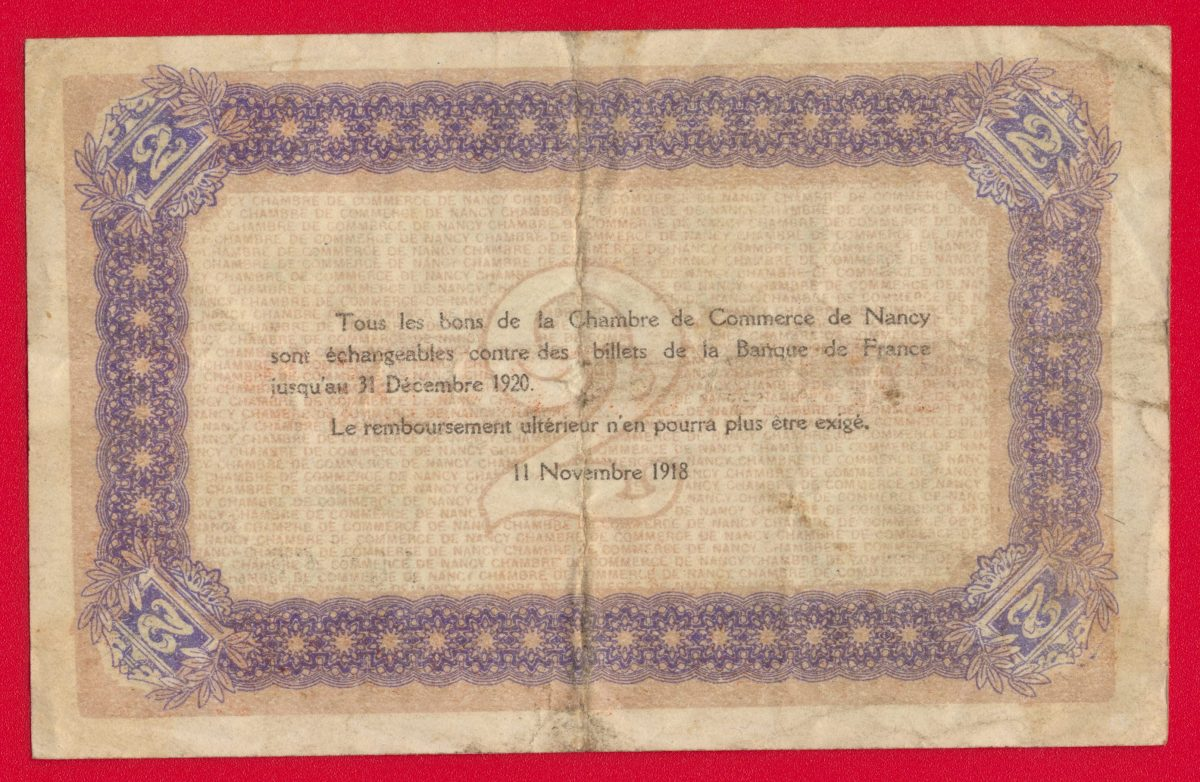 2 francs chambre de commerce de nancy fdcollector - Chambre de commerce 92 ...