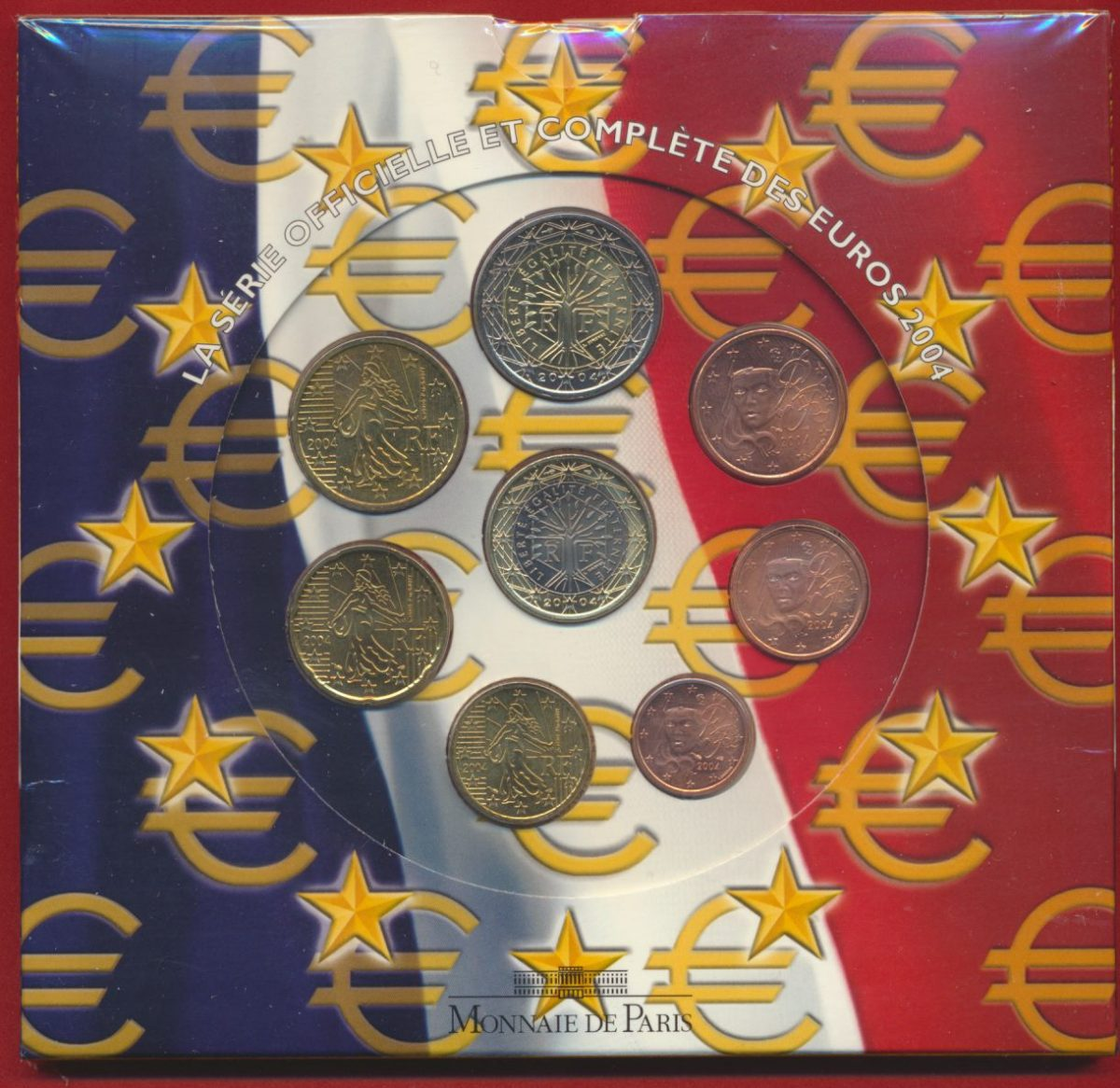 serie officielle monnaie de paris 2004 brillant universel