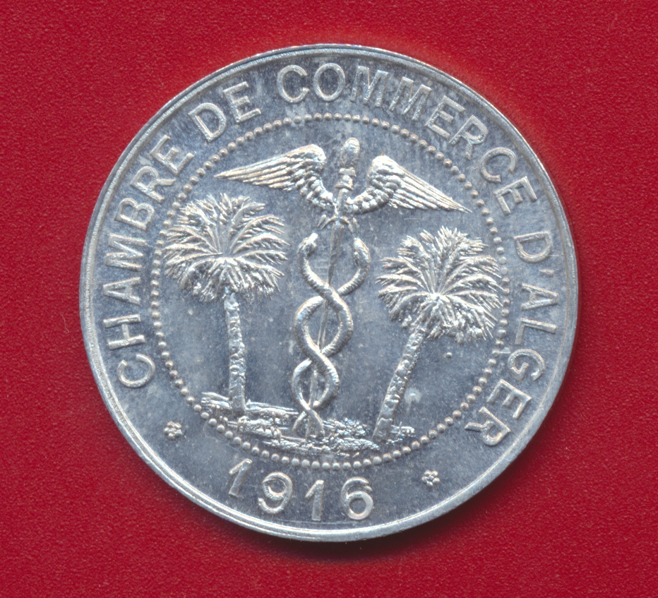 10 centimes chambre de commerce d alger 1916