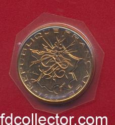 10 francs mathieu 1980 fleur de coin tranche a
