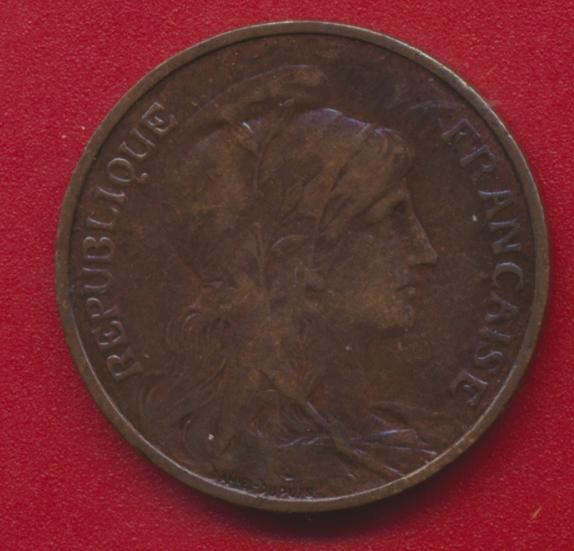 5 centimes type dupuis 1905 avers