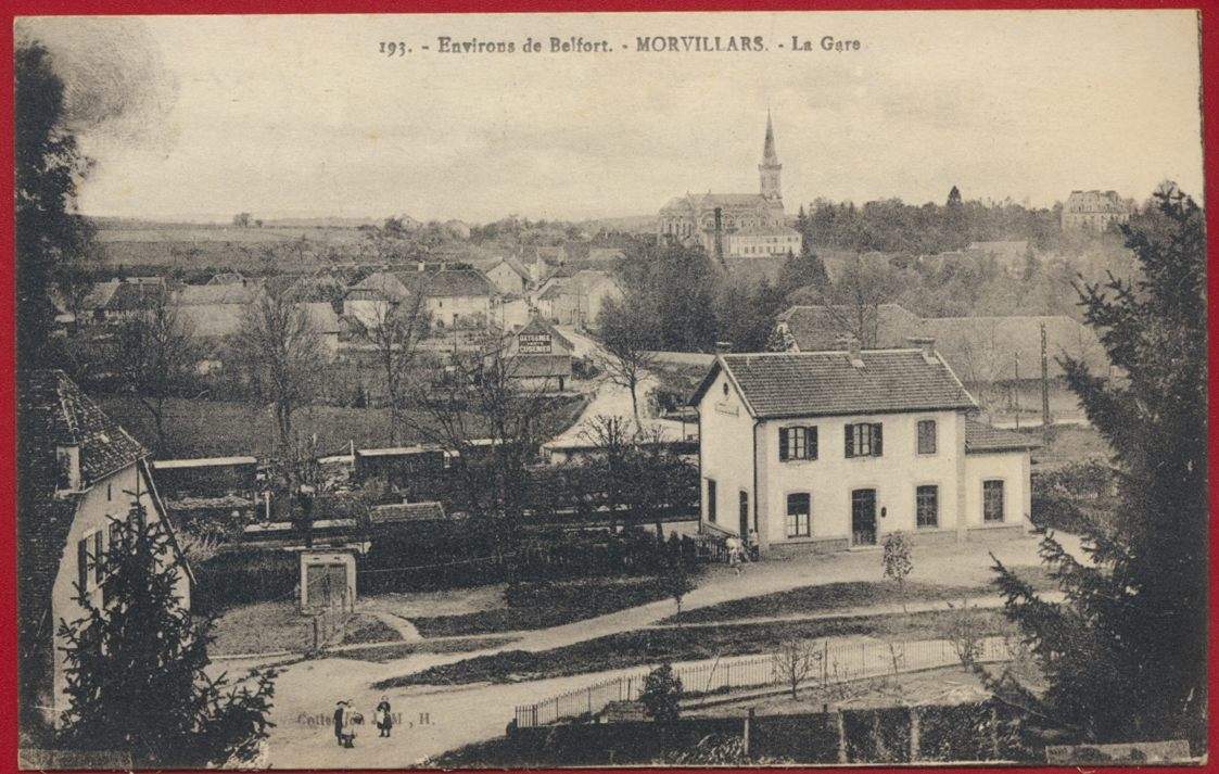 CPA Environs de Belfort Morvillars la gare
