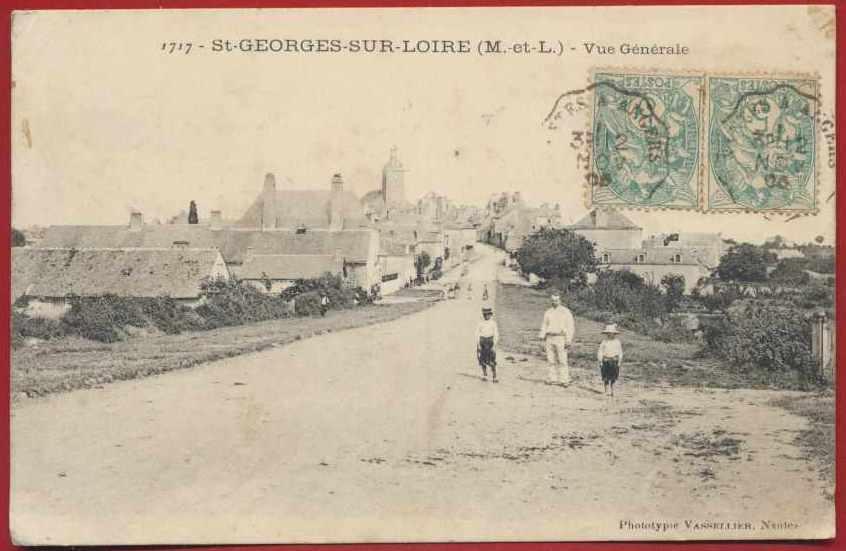 CPA St Georges sur Loire vue generale