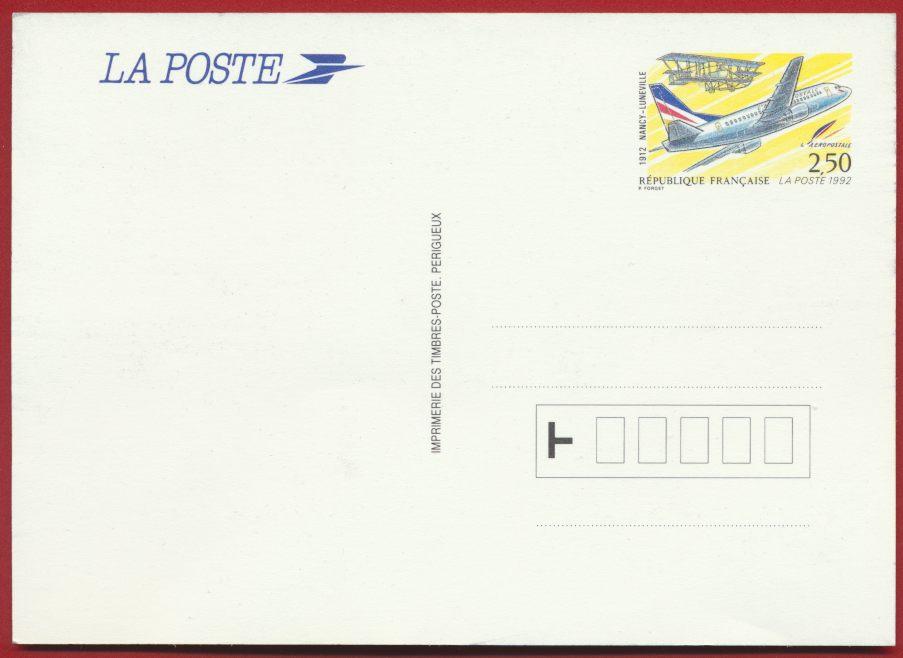 Entier postal 80 eme anniversaire de la 1 ere liaison postale aerienne nancy luneville