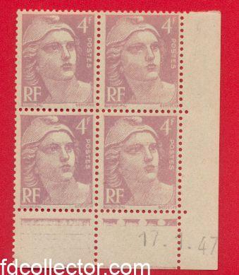 bloc gandon 4 francs 17 1 1947 coin date