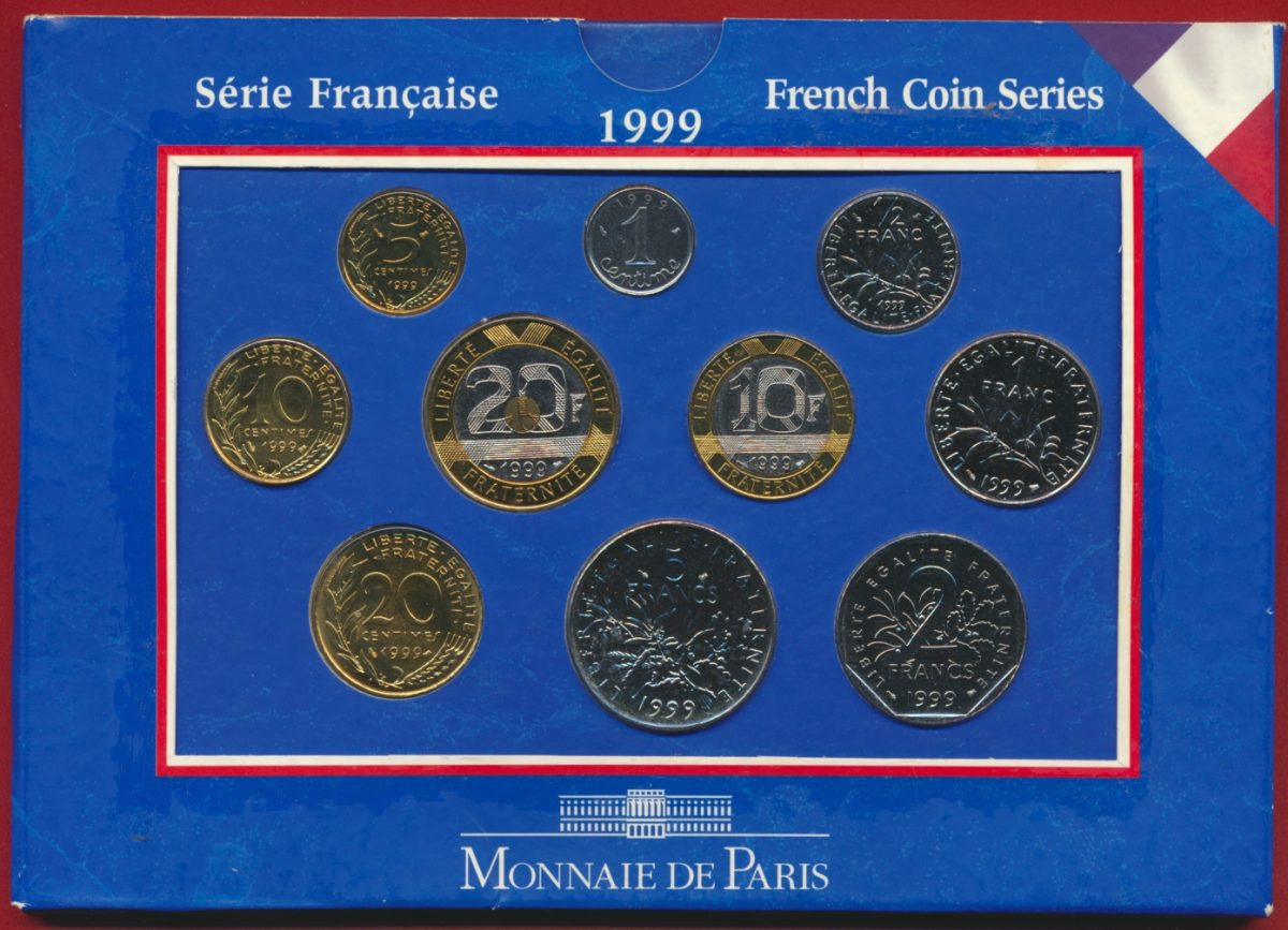 coffret monnaie de paris brillant universel 1999