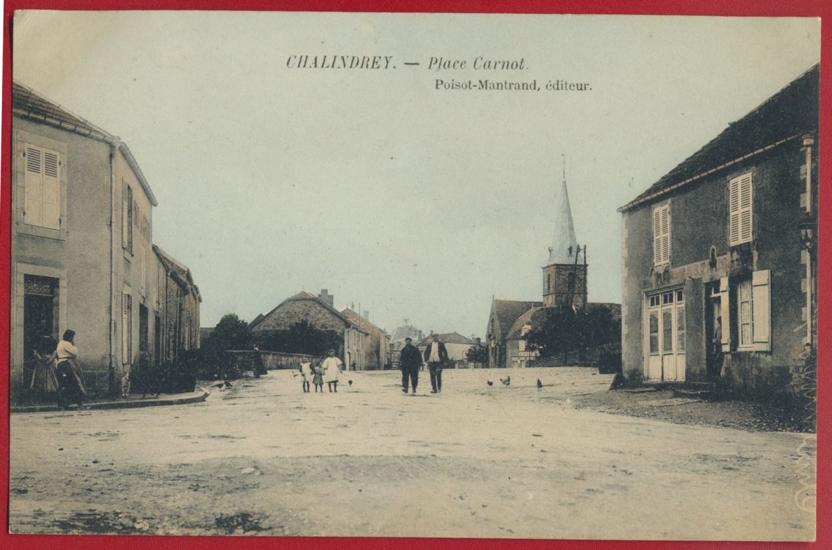 CPA Chalindrey place carnot poisot mantrand editeur