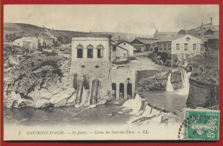 CPA environs d'Albi Saint-Juery - Usine du Saut du Tarn
