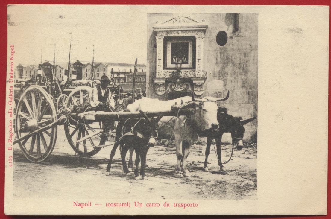 CPA Napoli costumi un carro da trasporto