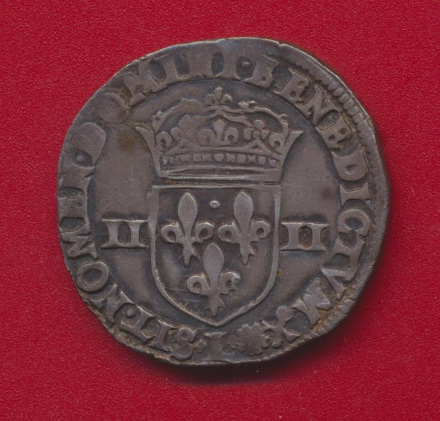 Henri IV quart d ecu argent 1595 L bayonne