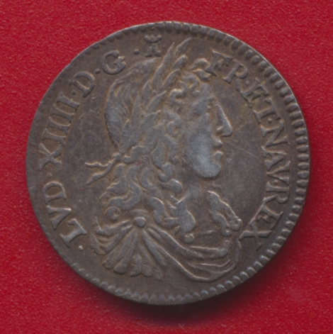 Louis XIIII douxieme d ecu buste juvenile 1662 I limoges