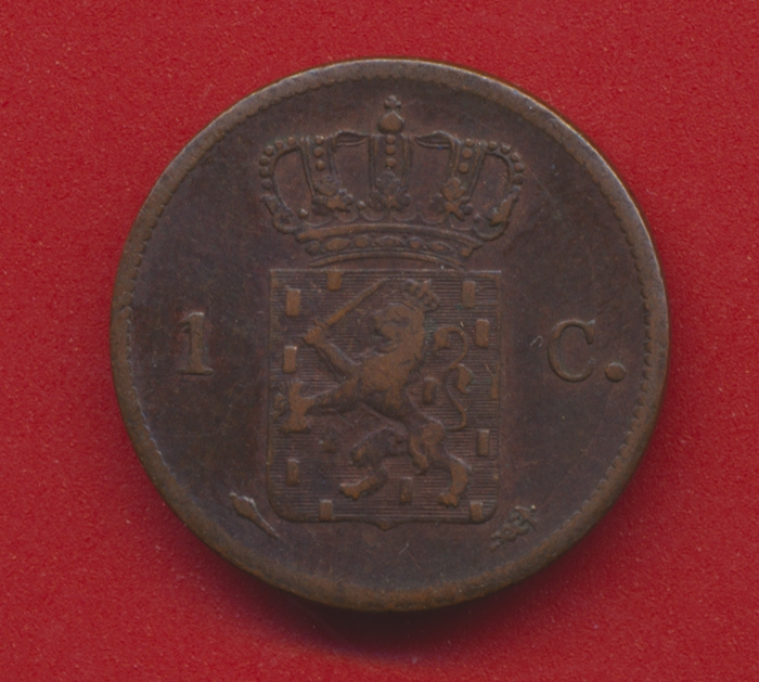 Pays-bas william 1 er guillaume 1er cent 1822 avers