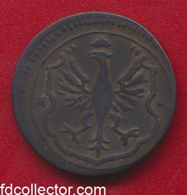 Rhenanie du nord westphalieVille de Dortmund Allemagne 1/4 de stuber 1754