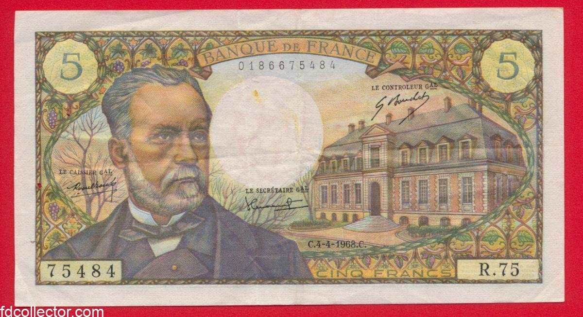 5-francs-pasteur-4-4-1968-75484-r75