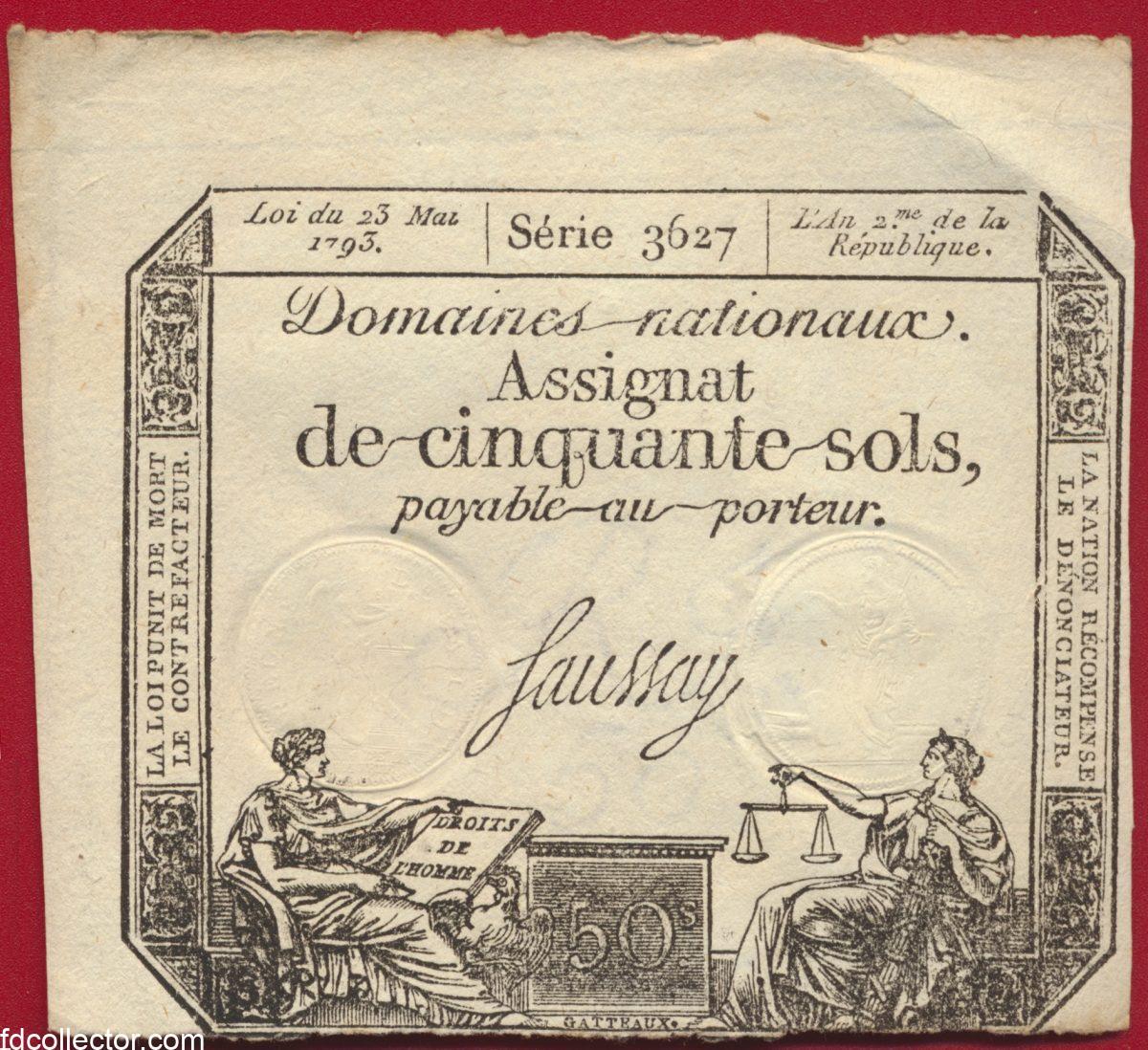 assignat-de-50-sols-23-mai-1793-serie-3627