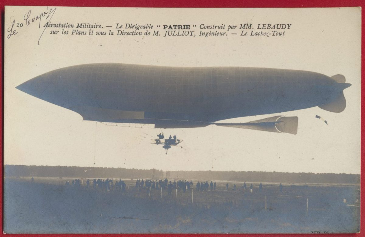 cpa-aerostation-militaire-le-dirigeable-patrie-lebaudy