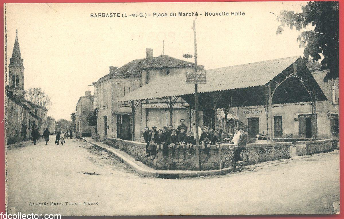 cpa-barbaste-place-du-marche