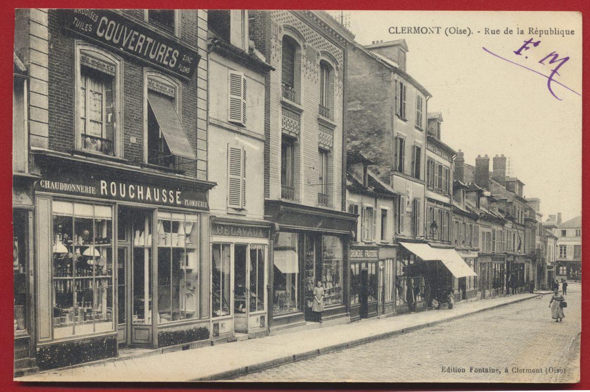 cpa-clermont-sur-oise-rue-de-la-republique