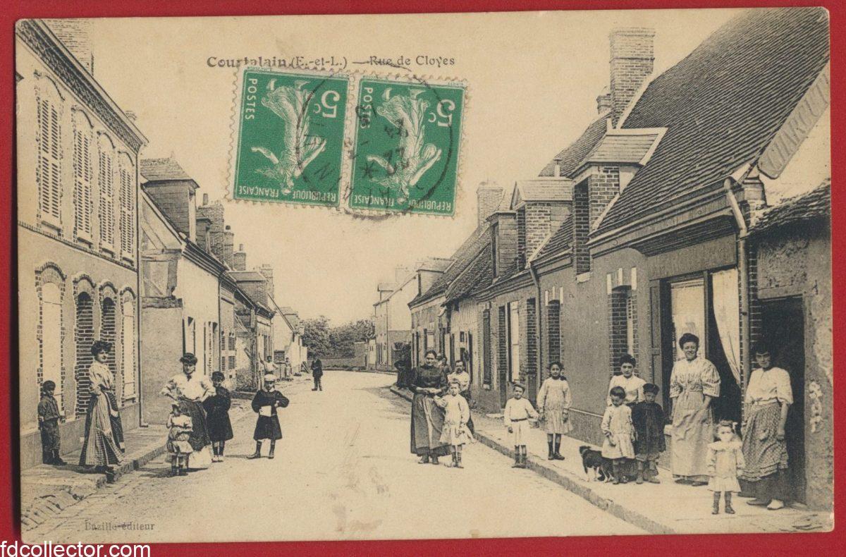 cpa-courtalain-rue-de-cloyes