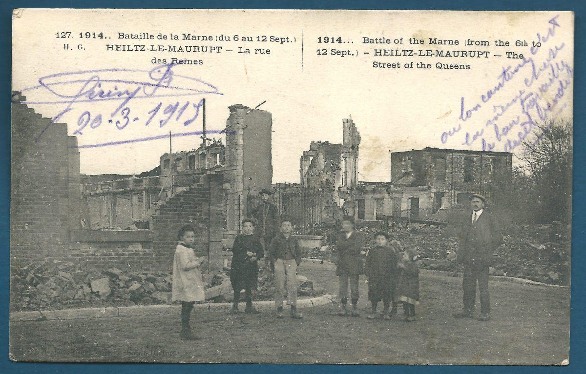 cpa-heilz-le-maurupt-la-rue-des-ruines