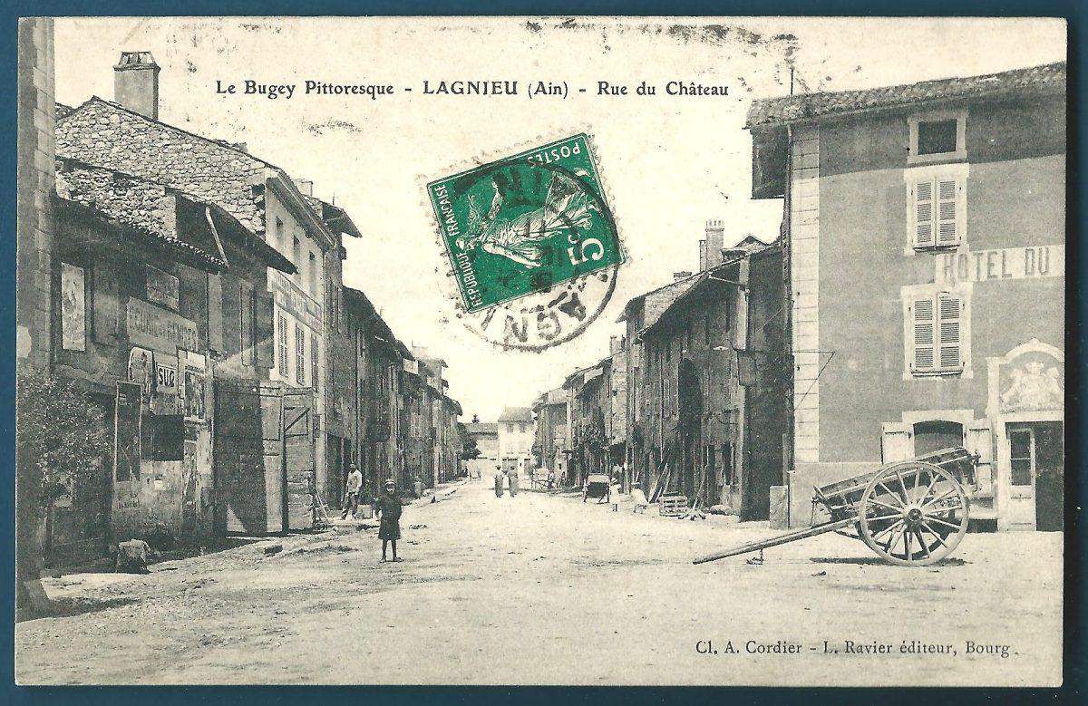 cpa-lagnieu-rue-du-chateau