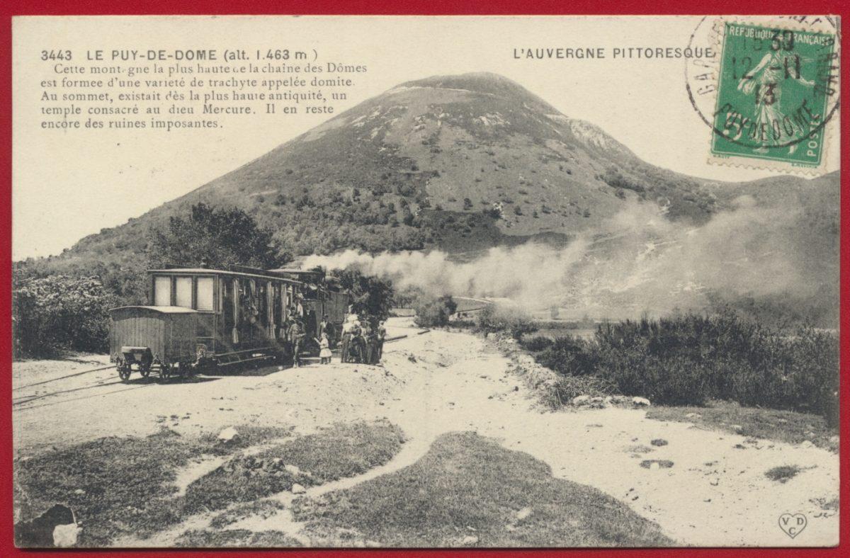 cpa-le-puy-de-dome-train
