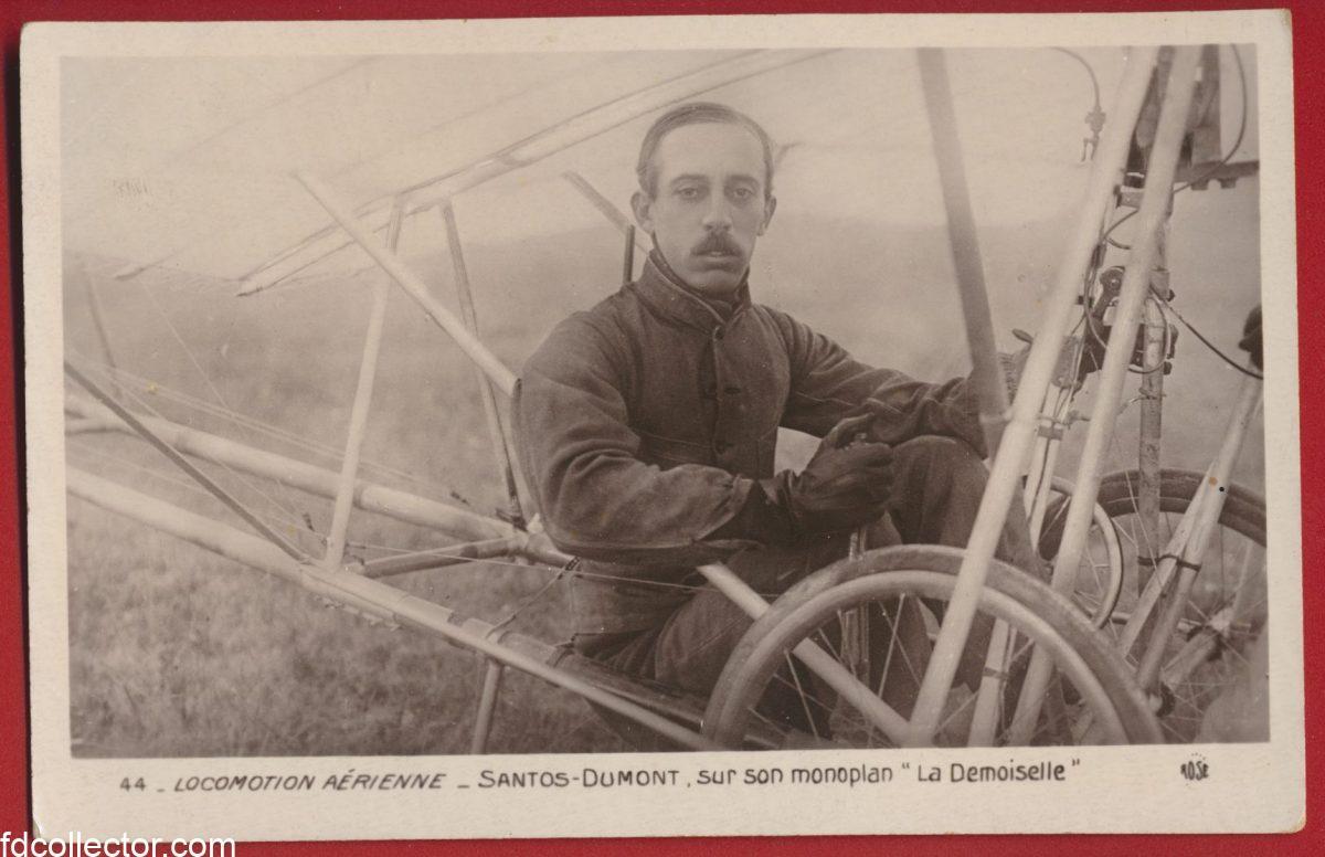 cpa-locomotion-aerienne-santos-dumont-sur-son-monoplan-la-demoiselle
