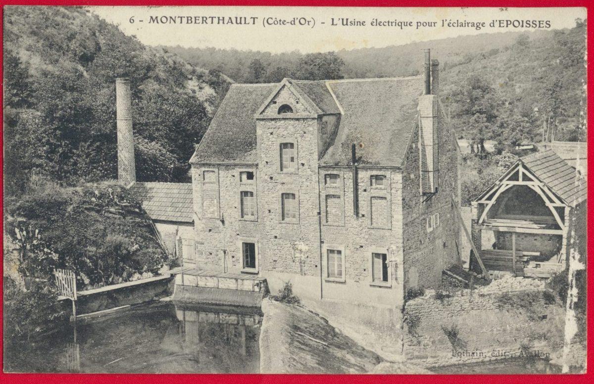 cpa-montberthault-l-usine-electrique-pour-l-eclairage-de-epoisses