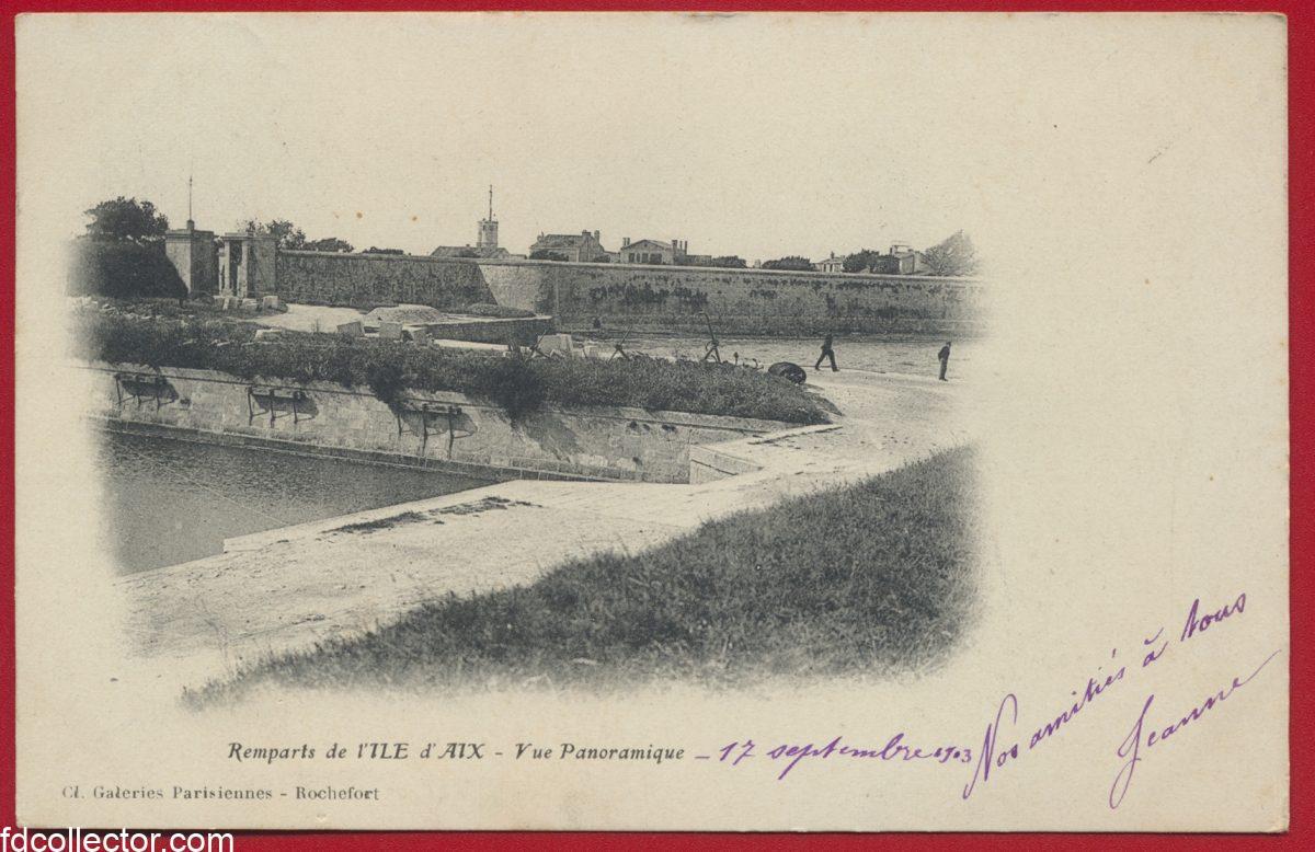 cpa-remparts-de-l-ile-d-aix-vue-panoramique