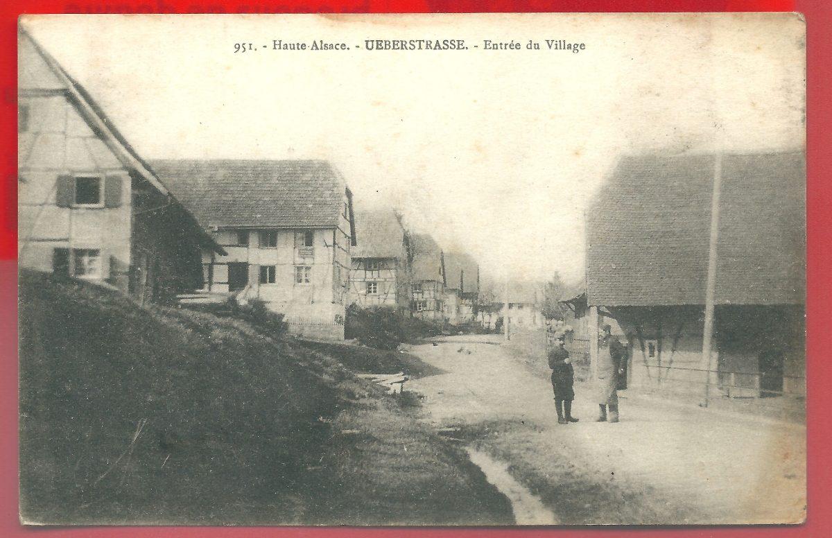 cpa-ueberstrasse-entre-du-village