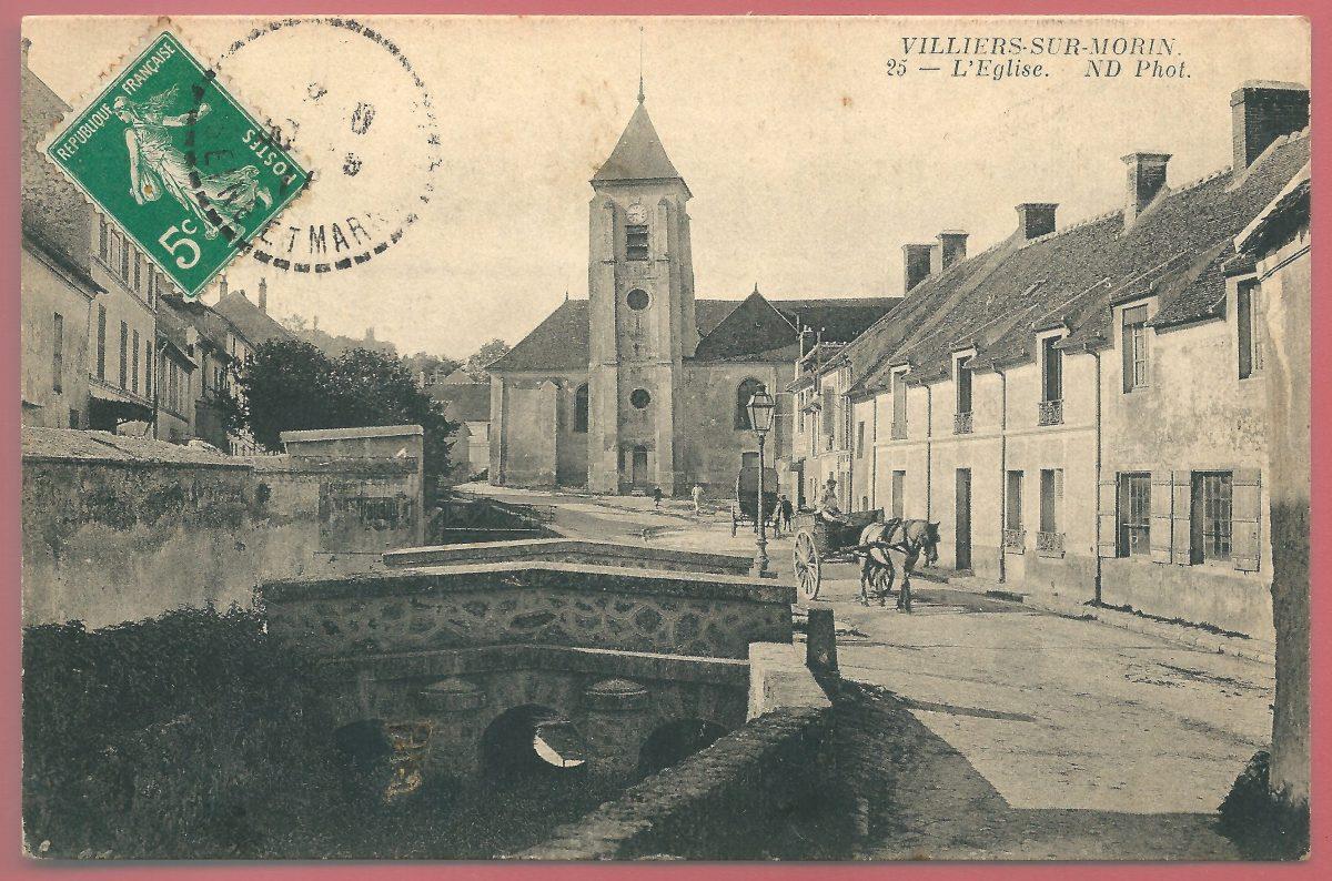 cpa-villiers-sur-morin-l-eglise